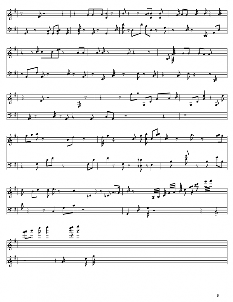 Tim (Lost) - MIN (From ST. 319) - Piano Sheet Page 6